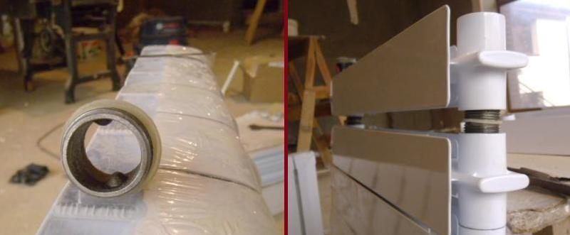 правило установки радиатора отопления