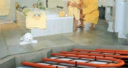 Как сделать теплый водяной пол в бане самостоятельно?