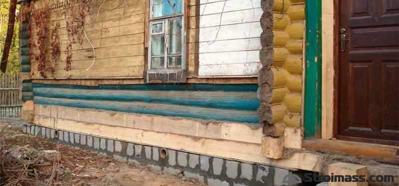 замена нижнего венца деревянного дома своими руками