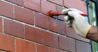 Чем выполняется покраска кирпичной стены на лоджии внутри и на фасаде