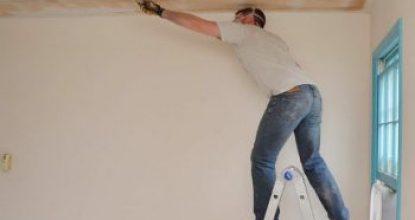 Подготовка и шпаклевка потолка из гипсокартона под покраску своими силами