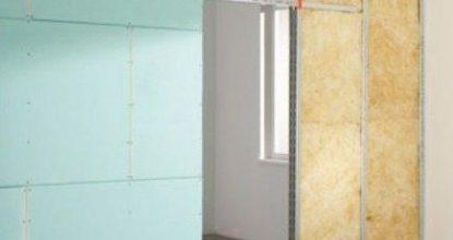 Идеальное зонирование кухни и гостиной перегородкой из гипсокартона с шумозащитой